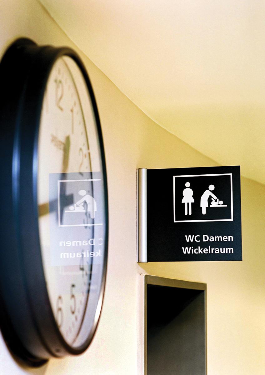 Bäderland_WC Schild