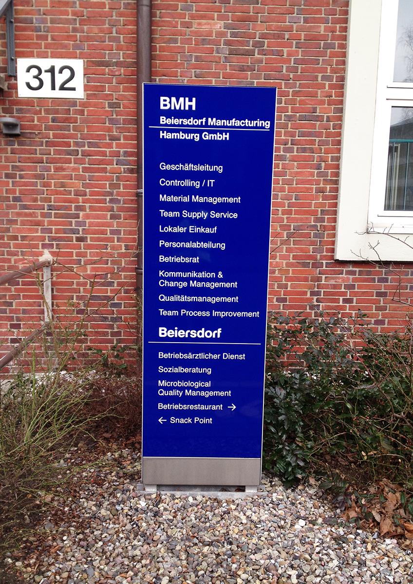 Beiersdorf_Stele Bereiche