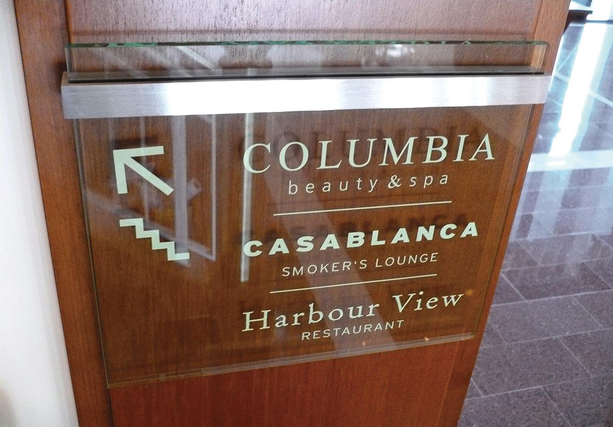 Columbia_Treppenschild