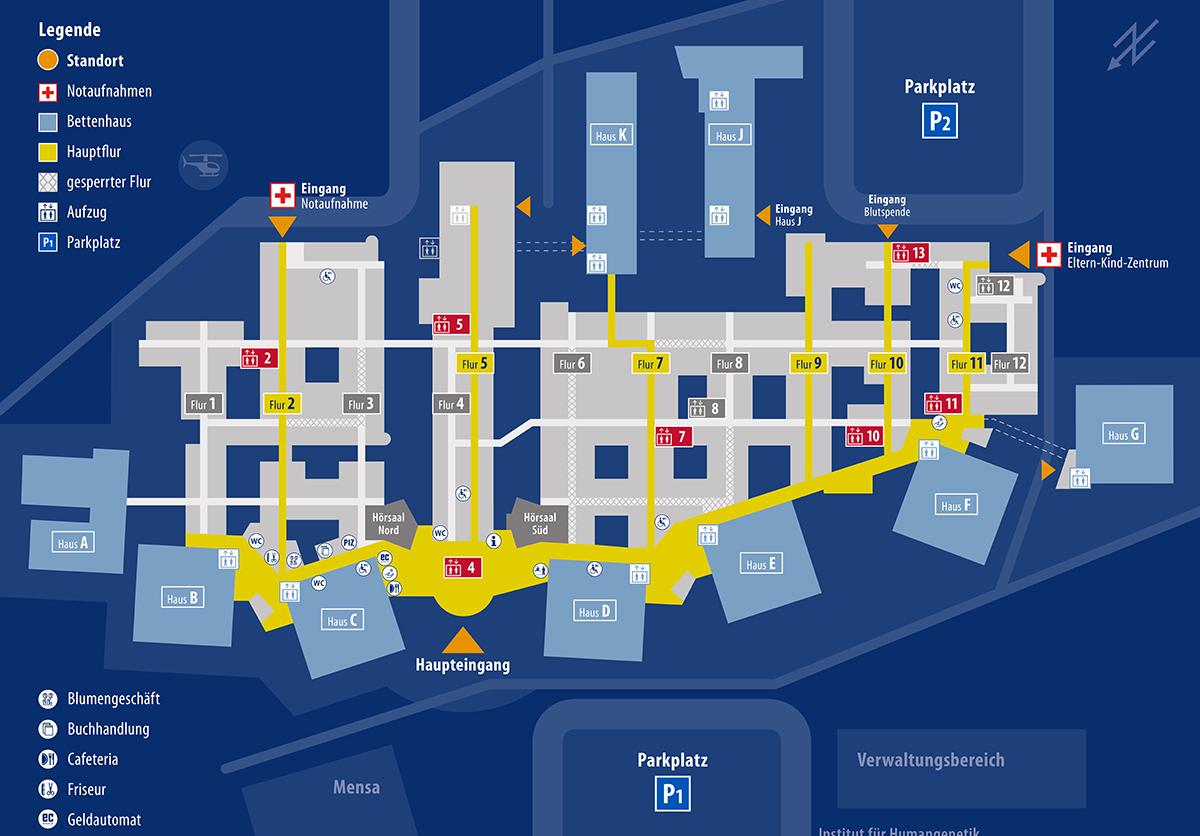 Universitätsklinikum Greifswald_Lageplan
