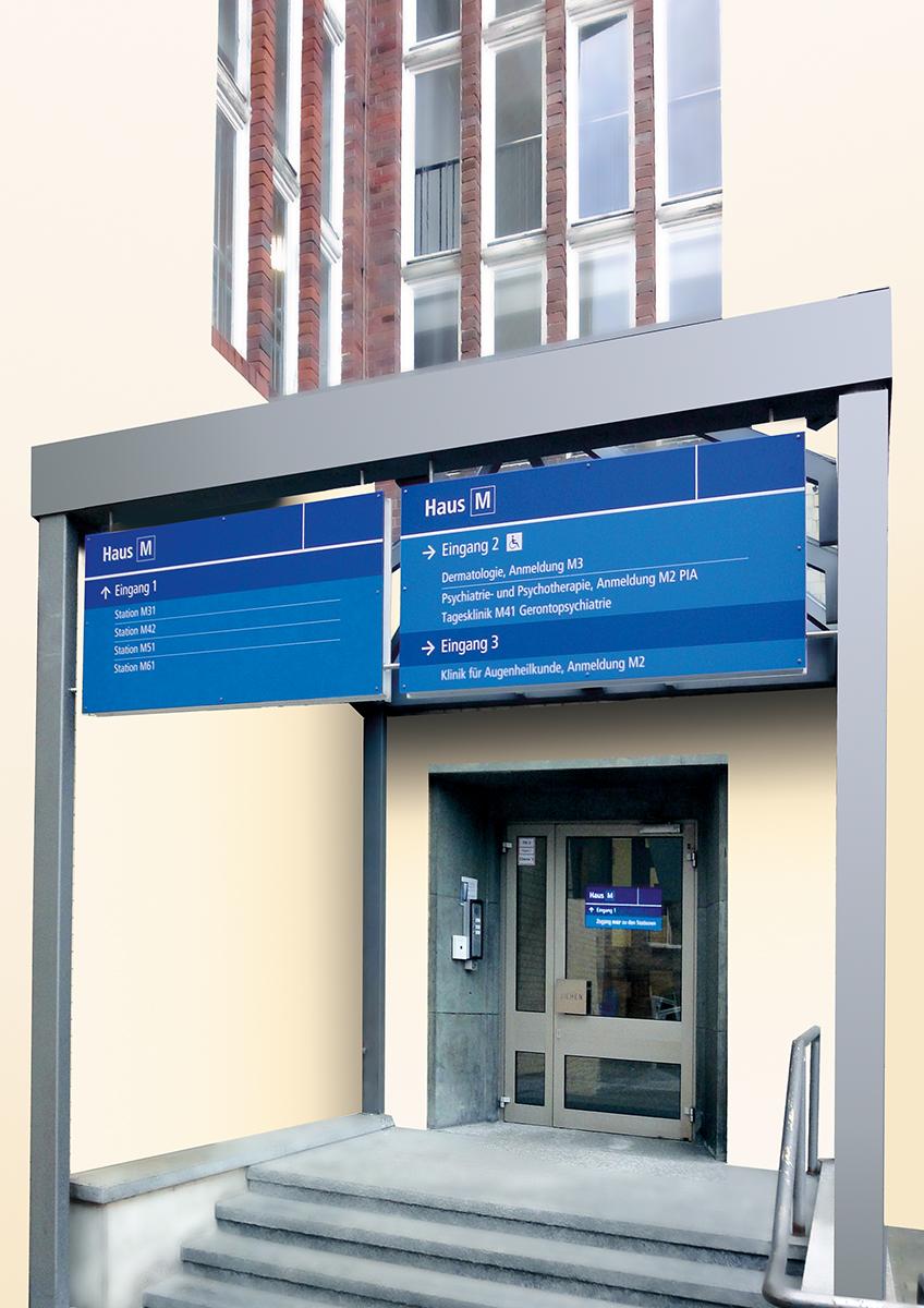 Klinikum Kassel_Eingangsschild