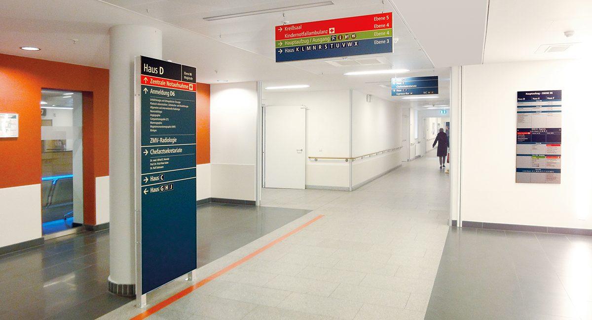 Klinikum Kassel_Flurbeschilderung